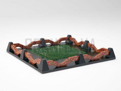 Могильна огорожа OG-11 Капустинський граніт
