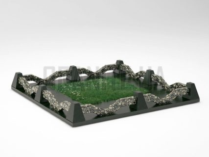 Могильна огорожа OG-11 Корнинський граніт