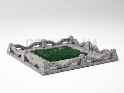 Могильна огорожа OG-11 Костянтинівський граніт