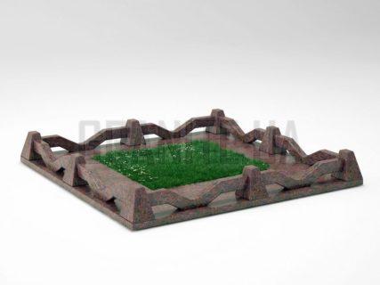 Могильна огорожа OG-11 Кишинський граніт