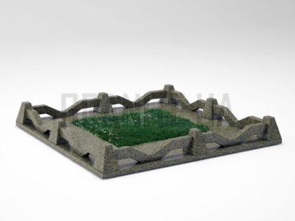 Могильна огорожа OG-11 Маславський граніт