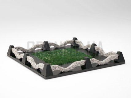 Могильна огорожа OG-11 Покостівський граніт