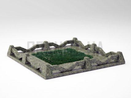 Могильна огорожа OG-11 Рогівський граніт