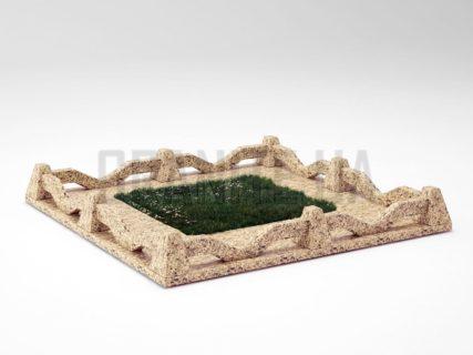 Могильна огорожа OG-11 Софіївський граніт
