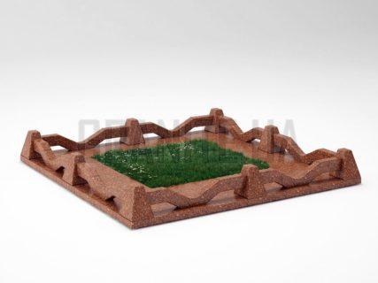 Могильна огорожа OG-11 Токівський граніт