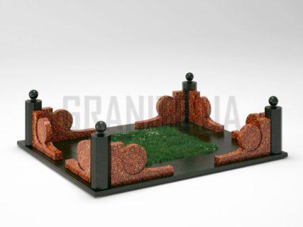 Могильна огорожа OG-13 Капустинський граніт