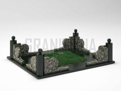 Могильна огорожа OG-13 Корнинський граніт