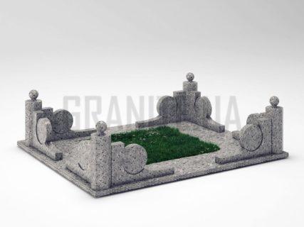 Могильна огорожа OG-13 Костянтинівський граніт