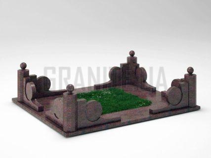 Могильна огорожа OG-13 Кишинський граніт