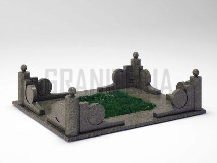 Могильна огорожа OG-13 Маславський граніт