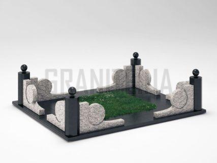 Могильна огорожа OG-13 Покостівський граніт