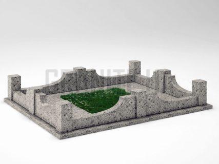 Могильна огорожа OG-14 Костянтинівський граніт