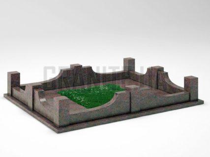 Могильна огорожа OG-14 Кишинський граніт