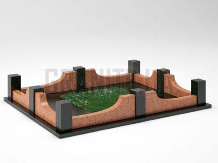 Могильна огорожа OG-14 Лезниківський граніт