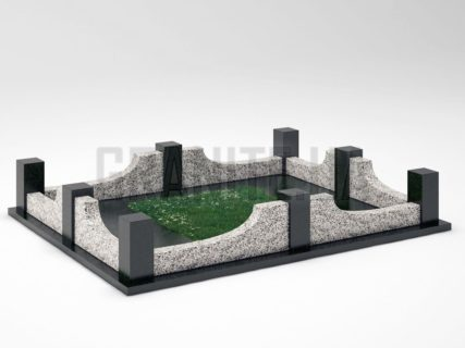 Могильна огорожа OG-14 Покостівський граніт