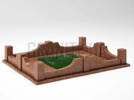 Могильна огорожа OG-14 Токівський граніт