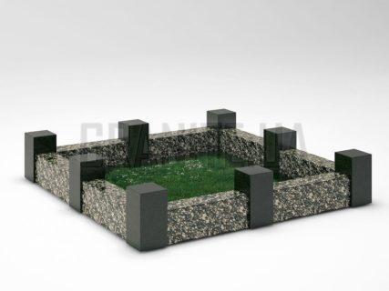 Могильна огорожа OG-16 Корнинський граніт