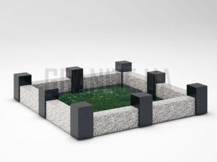Могильна огорожа OG-16 Покостівський граніт