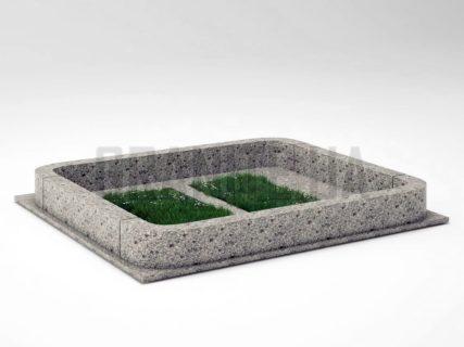 Могильна огорожа OG-20 Костянтинівський граніт