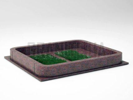 Могильна огорожа OG-20 Кишинський граніт