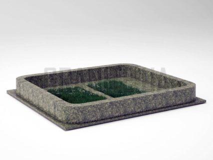 Могильна огорожа OG-20 Рогівський граніт