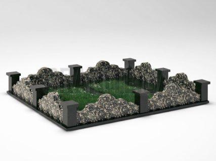 Могильна огорожа OG-21 Корнинський граніт