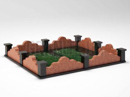 Могильна огорожа OG-21 Лезниківський граніт