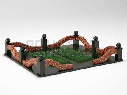 Могильна огорожа OG-23 Капустинський граніт