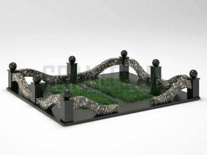 Могильна огорожа OG-23 Корнинський граніт