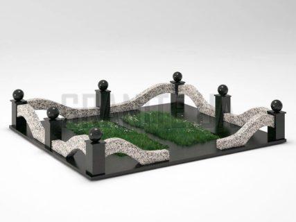 Могильна огорожа OG-23 Покостівський граніт