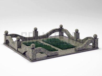 Могильна огорожа OG-23 Рогівський граніт