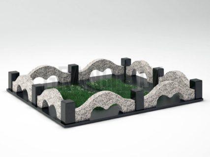 Могильна огорожа OG-26 Покостівський граніт