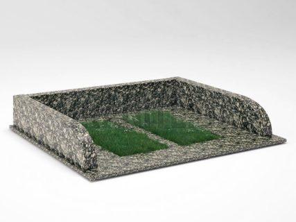 Могильна огорожа OG-30 Корнинський граніт