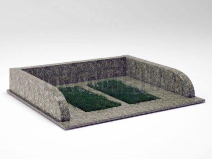 Могильна огорожа OG-30 Рогівський граніт