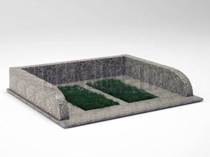 Могильна огорожа OG-30 Танський граніт