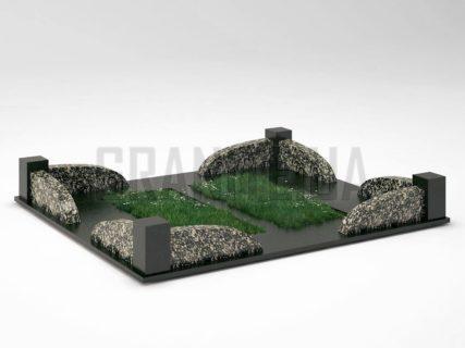 Могильна огорожа OG-31 Корнинський граніт