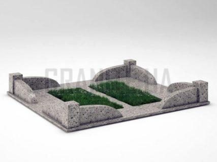 Могильна огорожа OG-31 Костянтинівський граніт