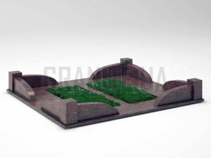 Могильна огорожа OG-31 Кишинський граніт