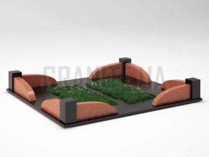 Могильна огорожа OG-31 Лезниківський граніт