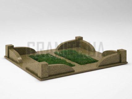 Могильна огорожа OG-31 Маславський граніт