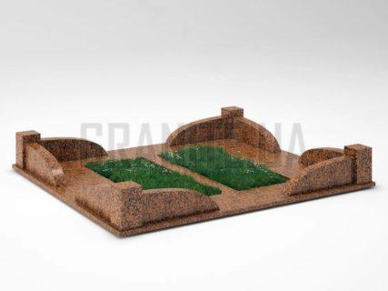 Могильна огорожа OG-31 Омел'янівський граніт