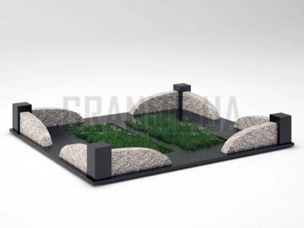 Могильна огорожа OG-31 Покостівський граніт