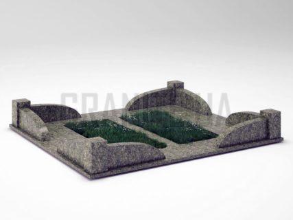 Могильна огорожа OG-31 Рогівський граніт