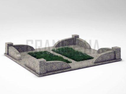 Могильна огорожа OG-31 Танський граніт