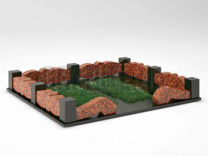 Могильна огорожа OG-32 Капустинський граніт
