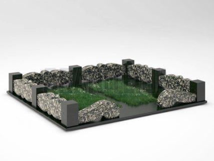 Могильна огорожа OG-32 Корнинський граніт