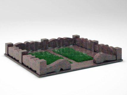 Могильна огорожа OG-32 Кишинський граніт
