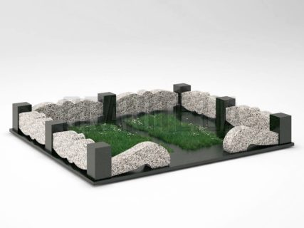 Могильна огорожа OG-32 Покостівський граніт