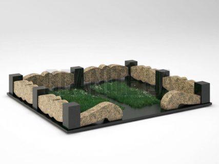 Могильна огорожа OG-32 Василівський граніт