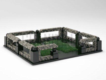 Могильна огорожа OG-33 Корнинський граніт